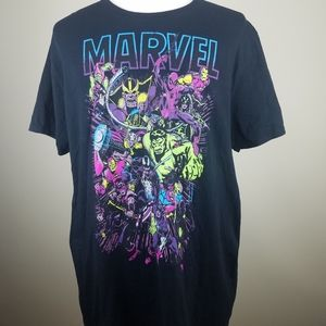Marvel Old School Comics Characters T Shirt S/S